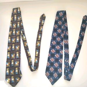 2 ties Christian Dior and st Michael